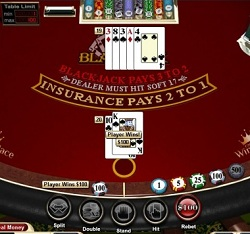 Playing blackjack online for real money