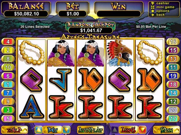 aztecs treasure slots