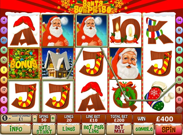 Play Santa Surprise Slots Online at Casino.com Canada